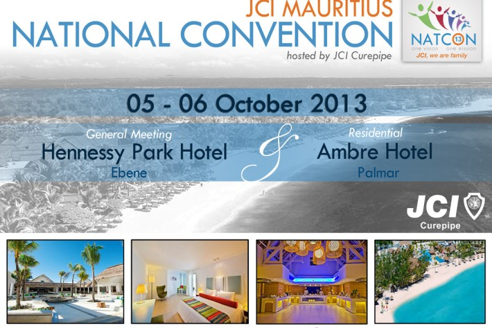 """The 2013 JCI Mauritius National Convention """"JCI, WE ARE FAMILY"""", is just around the corner and the 2013 NATCON Team has been working very hard and is this year providing […]"""