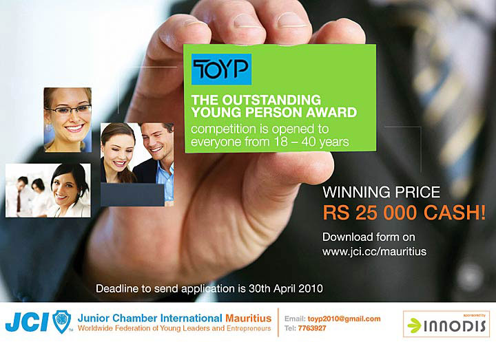 The Outstanding Young Person Award 2010 Advert