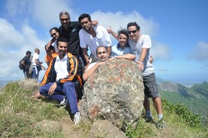 JCI Curepipe Members at the Top of Le Pouce Mountain