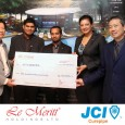 "JCI Curepipe receiving sponsorship funds from ""Le Meritt Holdings Ltd."" for the 2013 Health Campaign: Take Care Lepep.<br /> This year, the JCI Curepipe Health Campaign aims to improve the eating"